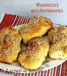 Mucenici moldovenesti (sfintisori) Sweet dough martyr figurines (romanian traditional recipe)