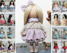 Fabric doll Tilda doll Textile doll Handmade por AnnKirillartPlace