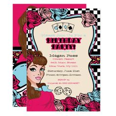 971890566 399 Best Pin up girl Birthday Party Invitations images in 2019 ...