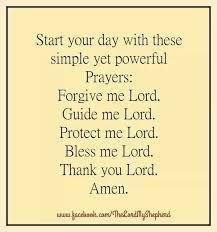 Powerful short morning prayer