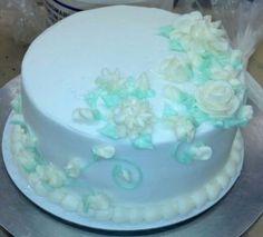Simple wedding shower cake