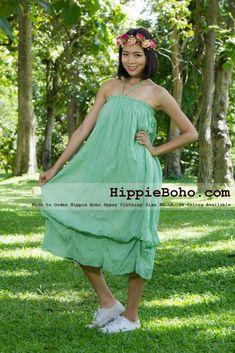 65855aa399c Hippie Boho Gypsy Mint Green Pumpkin Dress or Maxi Full Long Length Skirt  Plus Size Women s Clothing