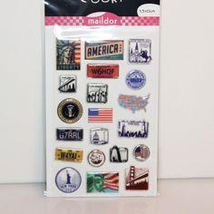 Sticker Cooky i love Amerika von Papiervogel auf Etsy