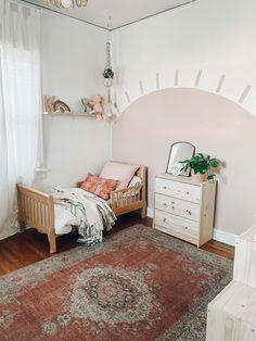 Toddler Girl Bedrooms, Pink Toddler Rooms, Little Girl Bedrooms, Pink Bedroom Walls, Baby Bedroom, Girls Bedroom, Bedroom Decor, Girls Room Paint, Girl Room