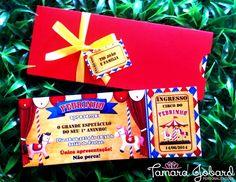 Convite 6x16 cm tipo ingresso, acompanha envelope, laçoe tag!  Pode ser feito em qualque tema ou cor. R$ 3,49
