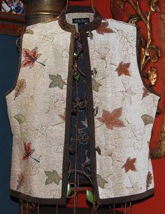 Rustic yet elegant leaf vest wonderful artistry sz M/L by YustaWas   $19.00