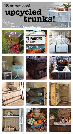 Fantastic upcycled trunks!