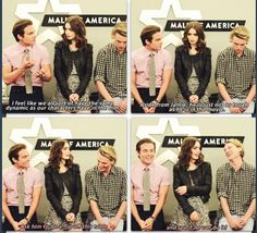 Mall of America - Jamie Campbell Bower, Lily Collins and Kevin Zegers
