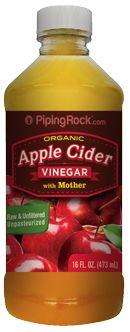 Apple Cider Vinegar w/Mother (Organic Certified) 16 oz Liquid