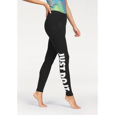 Legging femme Just Do It Nike - Bleu- Vue 1