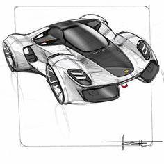 "Paul Hoste on Instagram: ""Airplane scribbles #porsche #carsketch #cardesign #cardesigncommunity #sketch#ipadpro #procreate"" Car Design Sketch, Car Sketch, 3d Design, Industrial Design Sketch, Muscle Cars, Futuristic Cars, Porsche Design, Car Drawings, Car Wheels"