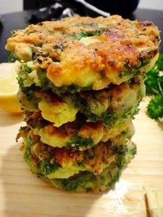 Broccoli, Feta and Pine Nut Fritters I Dr Libby Weaver..