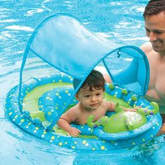 #Swimways #Baby Spring Float Activity Center with #Canopy   fun in the pool, in the shade!   http://amzn.to/HCrsMe