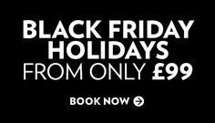 Al Fresco Holidays Black Friday to Cyber Monday offer. Easter Breaks from £99 and other offers for the May Half-Term and June.