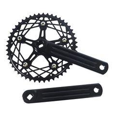 Fixed Gear Bike Crankset 48T CNC  chainwheel accessories  Cranks Single  Speed road Bicycle Crankset
