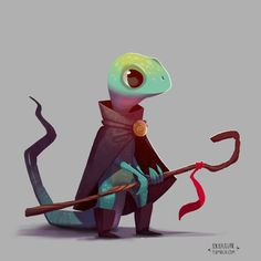 RPG Reptiles. Fun fantasy characters I've been... - alex braun