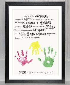 – jetzt auch *personalisierbar* – Unser *Handabdruck* in der *Geschwisterversi… – now * customizable * – our * handprint * in the * sibling version * in with enough space for * several children's hands *. (The open space is almost as big as a …