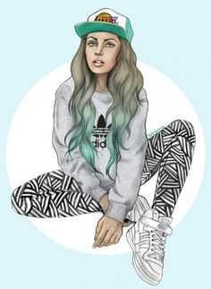 Find images and videos about girl, art and swag on We Heart It - the app to get lost in what you love. Sport Fashion, Fashion Art, Trill Art, Hip Hop, Portraits, Poses, Dope Art, Girl Swag, Beautiful Drawings