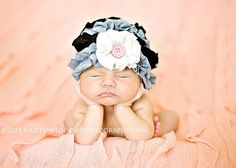 Grey and Black Ruffled Knit Cloche Hat  Girls by NestofManyColors, $24.95
