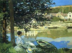 Claude Monet ~ Rivieroever bij Bennecourt, Seine ~ 1868 ~ Olieverf op doek ~ 81,5 x 100,7 cm. ~ Art Institute of Chigaco
