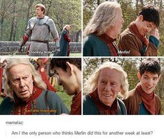 It wouldn't surprise me. Or even just randomly over the next couple of years, if Arthur was particularly an ass (excuse the pun) you'd see Merlin chuckling quietly at a feast or something important when Arthur randomly lets out a bray in front of everyone.