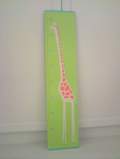 handpainted height chart / jungle collection