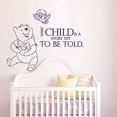 Wall Decals Quotes Winnie The Pooh Every Child Is A Story Yet Quote Vinyl Sticker Nursery Room Bedroom Decal Baby Boy Girl Home Decor Art Murals DA3684 VSgraphics llc http://www.amazon.com/dp/B00X2ZPW30/ref=cm_sw_r_pi_dp_xFFFvb1RB18Q6