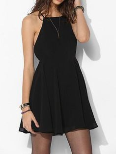 Black Cross Cut Out Back Sundress   Choies y'all...this looks beyond comfy yet still sexy.