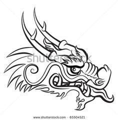 dragon head stock image image 31082381 idea box pinterest