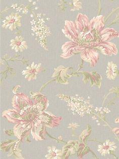 Linen Floral Wallpaper | Sapphire Oasis | AmericanBlinds.com