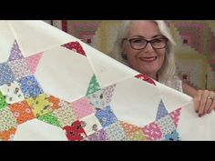 She Sews Squares In Diagonal Rows And, Once Again, Makes A Beautiful Item You'll Love! - DIY Joy