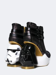 - There is disturbance in the force... *PSSSH(static)* The Death Star has arrived. Storm Troopers. The Force. Which side will you choose? - Style: The Death Star Platform Pump - Color: Black & White -