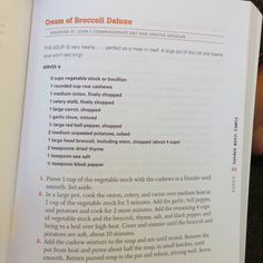 Cream of Broccoli Deluxe from Forks Over Knives #vegan