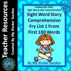 Sight Word Story Comprehension Fry High Frequency Words List 1 in 1st 100 Words Are you looking for a great way to practice Fry sight words and build reading comprehension skills? Then this is for you. High frequency words play a crucial role in learning to read fluently and this set works on just that.