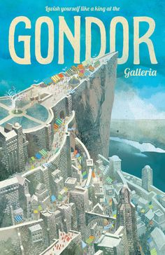 Middle Earth Travel Posters | Gondor #lordoftherings #poster