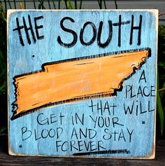 Hand Painted Sign from Simply Southern Signs and Bourbon & Boots . I need one with Mississippi and Arkansas! Southern Pride, Southern Sayings, Southern Comfort, Simply Southern, Southern Charm, Southern Style, Southern Women, Southern Living, Bourbon And Boots