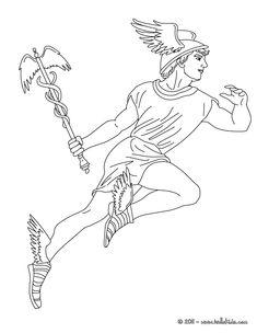 hermes mitologia   Desenho de HERMES o mensageiro dos deuses gregos para colorir