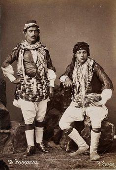 Armenian men.  From Central-Anatolia (probably the Ankara region).  Ca. 1875.