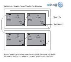 wiring multiple 6 volt batteries together BatteryBank