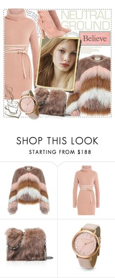 """Believe...."" by tinuviela ❤ liked on Polyvore featuring Urbancode, Valentino, Ermanno Scervino, Michael Kors, Gianvito Rossi and neutrals"