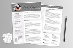 Resume Template With Photo by MTTE on @creativemarket