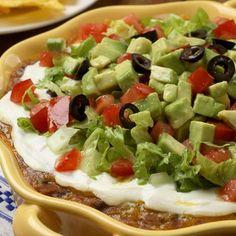 Healthy Southwestern Layered Bean Dip