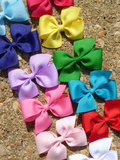 Small Baby Hair Bow Classic Boutique 2 inch by sweetiepiehairbow, $18.99