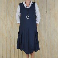 344a8b20606 Ladies Lagenlook Plus Size Tunic Dress Sleeveless – NAVY BLUE Plus Size  Tunic Dress