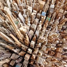 Sketching with a Band Saw: James McNabb's Scrap Wood Cityscapes