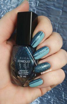 Avon stardust- Teal Glitter