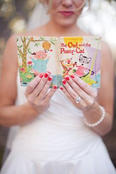 """Adorable details in this """"The Owl and the Pussycat"""" inspired wedding.    Photos:  Melissa Jill Photography"""