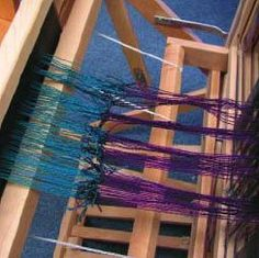 Step-by-step instructions on how to tie a new warp onto an existing one. #Weaving