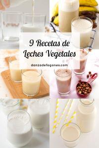 9 Recetas de Leches Vegetales | danzadefogones.com #danzadefogones #vegano…