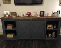 tv stand with sliding barn door - Yahoo Image Search Results